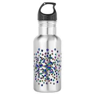 Colored Flowers 532 Ml Water Bottle