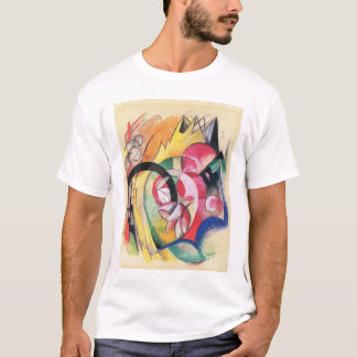 Colored Flowers (aka Abstract Forms) by Franz Marc T-Shirt