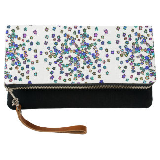 Colored Flowers Clutch Bag