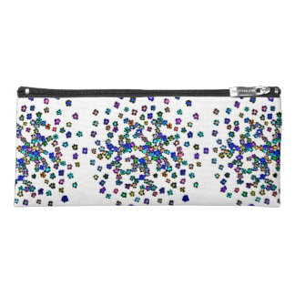 Colored Flowers Pencil Case