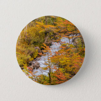 Colored Forest Landscape Scene, Patagonia 2 Inch Round Button