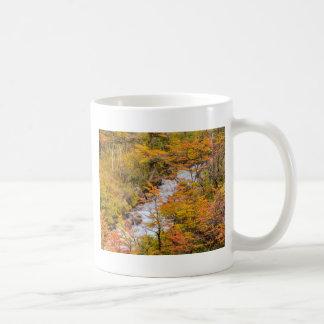 Colored Forest Landscape Scene, Patagonia Coffee Mug