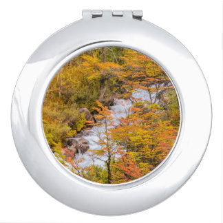 Colored Forest Landscape Scene, Patagonia Compact Mirrors