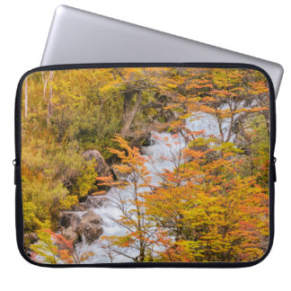 Colored Forest Landscape Scene, Patagonia Laptop Sleeve