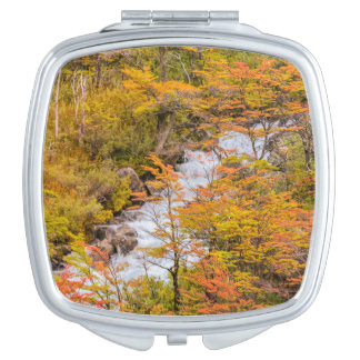 Colored Forest Landscape Scene, Patagonia Makeup Mirror