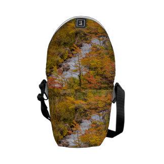 Colored Forest Landscape Scene, Patagonia Messenger Bag
