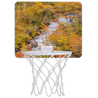 Colored Forest Landscape Scene, Patagonia Mini Basketball Hoop
