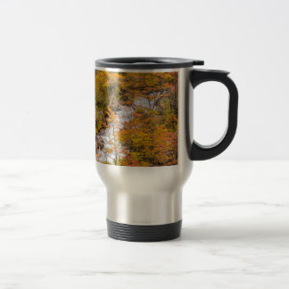 Colored Forest Landscape Scene, Patagonia Travel Mug