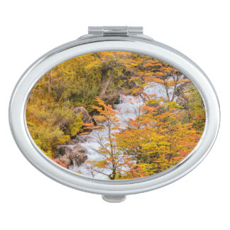 Colored Forest Landscape Scene, Patagonia Vanity Mirror
