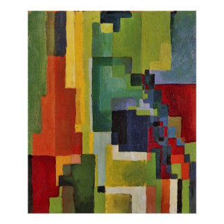 Colored forms (II) by August Macke Poster