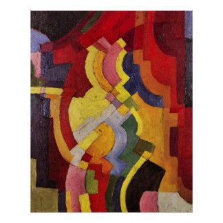 Colored forms (III) by August Macke Poster