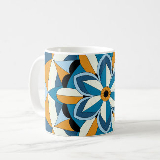 Colored Geometric Floral Mandala 060517_2 Coffee Mug