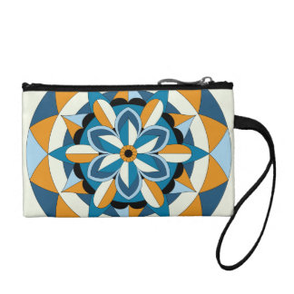 Colored Geometric Floral Mandala 060517_2 Coin Purse