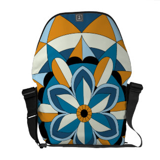 Colored Geometric Floral Mandala 060517_2 Courier Bags