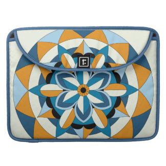 Colored Geometric Floral Mandala 060517_2 Sleeve For MacBook Pro