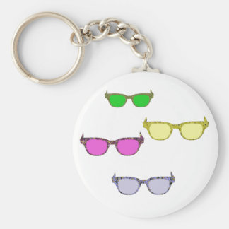 Colored Glasses Keychains