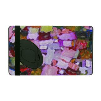 Colored Glitter Spots iPad Folio Cover
