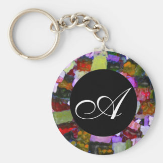 Colored Glitter Spots Keychain