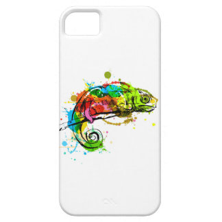 Colored hand sketch chameleon iPhone 5 case