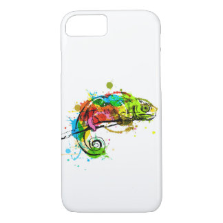 Colored hand sketch chameleon iPhone 8/7 case
