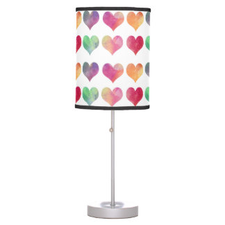 Colored hearts lamp