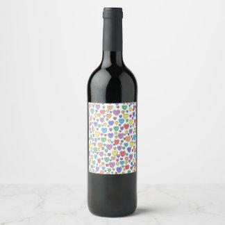 Colored Hearts Wine Label