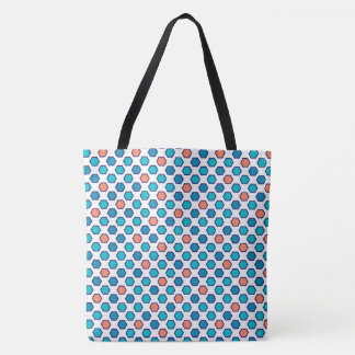 Colored hexagons tote bag