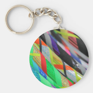 colored hula hoop basic round button keychain