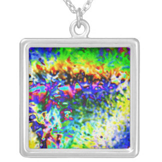 Colored ice silver plated necklace
