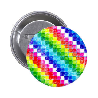 Colored In Graph Paper Squares 2 Inch Round Button