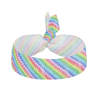 Colored In Graph Paper Squares Hair Tie