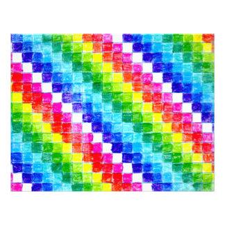 Colored In Graph Paper Squares Letterhead