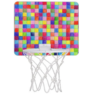 Colored In Graph Paper Squares Mini Basketball Hoop