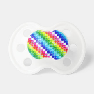 Colored In Graph Paper Squares Pacifier
