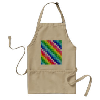 Colored In Graph Paper Squares Standard Apron