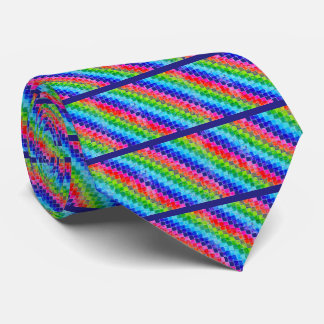 Colored In Graph Paper Squares Tie