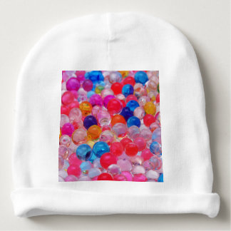 colored jelly balls texture baby beanie