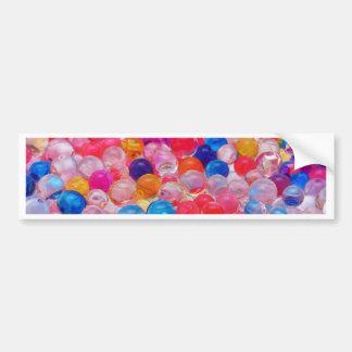 colored jelly balls texture bumper sticker