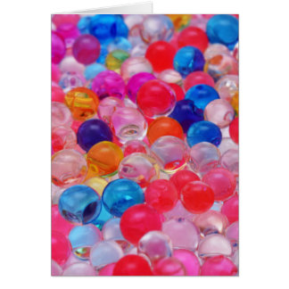colored jelly balls texture card