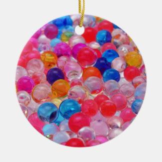 colored jelly balls texture ceramic ornament