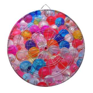 colored jelly balls texture dartboard