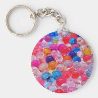 colored jelly balls texture keychain