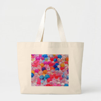 colored jelly balls texture large tote bag