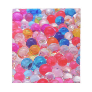 colored jelly balls texture notepad