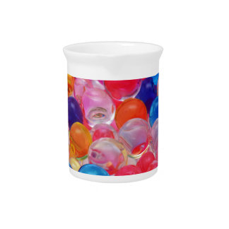 colored jelly balls texture pitcher