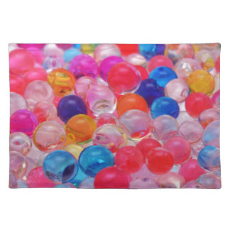 colored jelly balls texture placemat