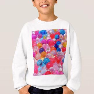 colored jelly balls texture sweatshirt