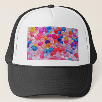 colored jelly balls texture trucker hat