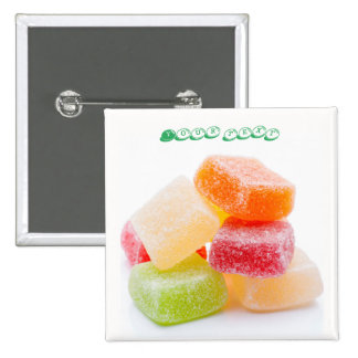 Colored Jelly Square Sweets 2 Inch Square Button