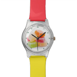 Colored Jelly Square Sweets Watches